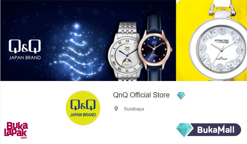 Official Store Bukamall Jam Tangan Q&Q Original Indonesia
